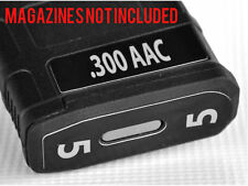 .300 AAC MAG STICKERS fits MAGPUL PMAG 30 GEN M3 AR15-M16-M4 GREY NUMBERS 1-6