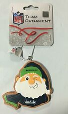 Seattle Seahawks Gingerbread Winking SANTA Christmas Tree Holiday Ornament