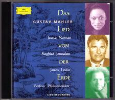 James LEVINE: MAHLER Das Lied von der Erde CD Jessye NORMAN Siegfried JERUSALEM