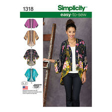 NEW | Simplicity Misses Sewing Pattern 1318 | Kimono Jackets | FREE SHIPPING