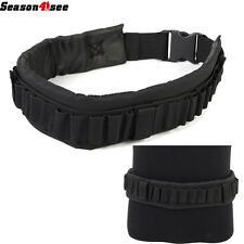 Tactical Shotgun Shell Bandolier Ammunition Holder Belt Hunting Airsoft Black UK