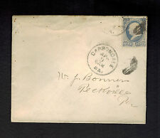 CArbondale PA USA Cover to Peekville # 145