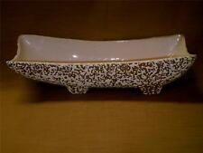 Vintage Pottery Planting or Garden Dish-Rectangular-White Confetti Over Gold