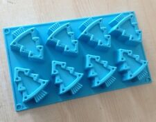 Cake Soap Mold 8-Christmas Tree  Flexible Silicone Mould For Candy Chocolate