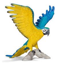 Schleich 14690 Blue & Yellow Macaw Parrot Toy Wild Bird Figurine - NIP