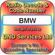 Radio BMW code decode déverrouillage par numéro de série