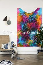 Bohemian Skull Tapestry Halloween Wall Hanging Indian Tie Dye Psychedelic Art