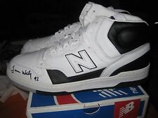 New Balance NB P740WK P740 James Worthy Black White sz 11 Signed Packer Shoes