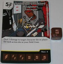 SATCHEL OF UNLIMITED WEAPONRY: CHIMICHANGA 110 Deadpool Dice Masters Rare