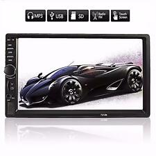 7'' 2DIN Autoradio Bluetooth MP5 MP3 écran Tactile Stéréo Video HD USB AUX FM