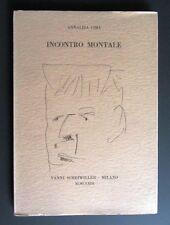 Annalisa Cima INCONTRO MONTALE Pesce oro 1973 SCHEIWILLER disegno Marino Marini