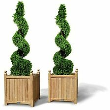Artificial Topiary Boxwood Outdoor Spiral Trees Plant 4ft/120cm 2 Pack Real Look
