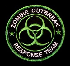ZOMBIE HUNTER OUTBREAK RESPONSE TEAM BIOHAZARD TACTICAL LIME GREEN IRON ON PATCH