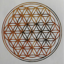 Window Sticker: Flower of Life Gold Front/Silver Reverse 7.9cm