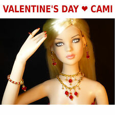 Christmas or VALENTINE'S DAY MAGNETIC JEWELRY SET FOR TONNER DOLLS-CAMI,TYLER