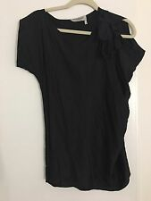 Yves Saint Laurent YSL Black Silk batwing blouse top F38