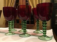 NWT Gorgeous Red And Green Wine Glass Goblet Foreside