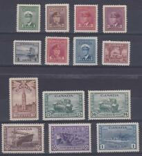 Canada 1942-3 #249-62 KGVI War Issue - MLH F set of 14
