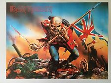 IRON MAIDEN, EDDIE, THE TROOPER,MEGA RARE AUTHENTIC 1980's POSTER