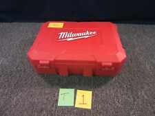 "MILWAUKEE 2610-24 CARRYING CASE BOX 1/2"" DRILL DRIVER PLASTIC 18V USED"