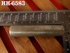 "6.2""Forge Damascus steel 22.4 MM Hollow round Pipe guard/Ring jewelry@HH-6583"