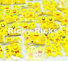 72 Emoji Erasers Emoticon Toys Emotions Party Bag Fillers Smile Favors Sets Lot