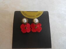 Exquisite ATELIER GODOLE Hand Crocheted Genuine Pearl Earrings from France!