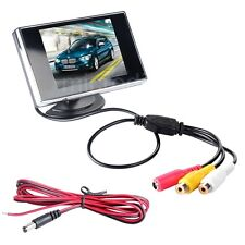 3.5 inch HD 360 Degree Adjustable TFT LCD Monitor For CCTV Camera Security+Cable