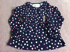 BNWT Gymboree Black Pink Spot Tunic Top Age 6 Years