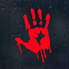 Bloody Zombie Hand Print Car Decal Vinyl Sticker For Bumper Or Window Or Panel