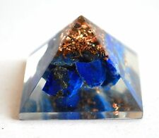 REIKI ENERGY CHARGED LAPIS LAZULI ORGONE PYRAMID POWERFUL ENERGY GENERATOR GIFT