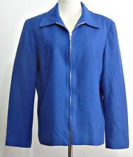Requirements Ladies Royal Blue Zip Front Wool Lined Jacket - Size 14