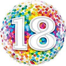 """Palloncino Mylar - Coriandoli - 18"""" 46cm - 18 Anni Compleanno"""