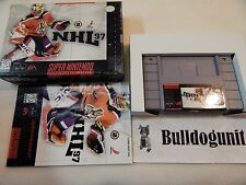 NHL 97 Hockey Super Nintendo Snes Complete Box Manual