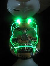 LED LIGHT UP SKULL MASK 6 DIFFERENT MODES TWO FACES WHITE OUT OR SKULL