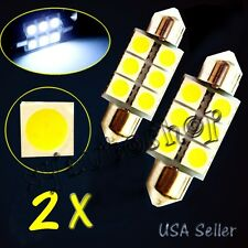 2X 36mm 6 SMD 5050 Car LED Light Auto Interior Dome Festoon White Bulb Lamp 12V