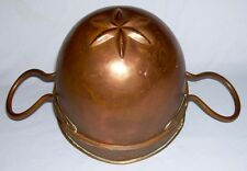 "Antique Copper 2-Pc ""STAR FLOWER PETAL"" ICE CREAM MOLD w/Tin Lining ~ Denmark"