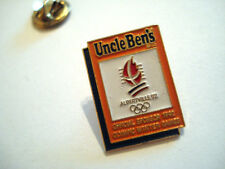 PINS RARE UNCLE BEN'S ALBERVILLE 92 OFFICIAL SPONSOR 1992 OLYMPIQUE WINTER GAME