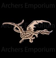 Hobbit, Smaug Pin Badge Antique Copper Finish. Weta Collectables. LotR. Dragon