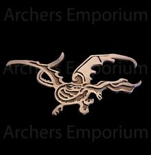 Smaug Pin Badge Antique Copper Finish. Dragon. Hobbit, LotR. Weta Collectables.