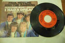 "PAUL REVERE&RAIDERS(MARK LINDSAY)""I HAD A DREAM-disco 45 giri CBS Usa 1967"""