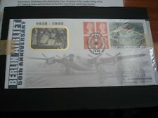 BENHAM ISSUED BERLIN AIRLIFT 50TH ANNIVERSARY SIGNED  AIR MARSHALL JOHN CURTISS