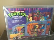 Teenage Mutant Ninja Turtles (TMNT) Sewer Playset Playmates Sealed AFA 75 WOW !!