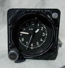 Cold War USAF USN USMC 8 Day Aircraft Clock, Keeps Great Time