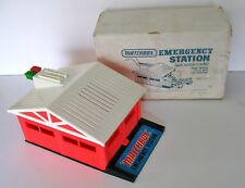 vintage 1975 MATCHBOX Emergency Station w/ box  PLAYSET push button CAR release