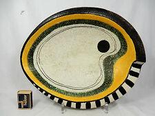 """Seltene, asymmetrische 50´s WGP Ruscha Keramik Schale / bowl   """" Domino """" 729/3"""