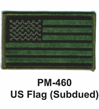 "3""  US FLAG (SUBDUED) Embroidered Military Patch"
