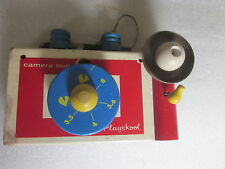 1950/60's Playskool wooden toy Camera Bug with removable pieces rare