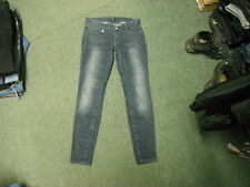 "Armani Exchange A/X Skinny Jeans Size 6 Leg 30"" Faded Dark Blue Ladies Jeans"