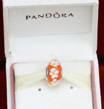 AUTHENTIC PANDORA CHARM TROPICAL FLOWER MURANO #791624 BOX NOT INCLUDED
